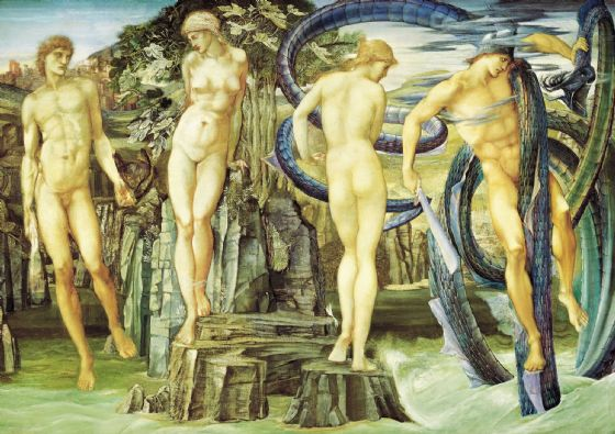 Burne-Jones, Sir Edward Coley: Perseus and Andromeda. Fine Art Print/Poster (4355)
